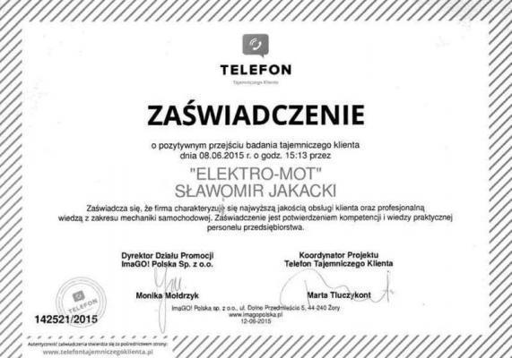 Referencje dla Elektro-Mot 1